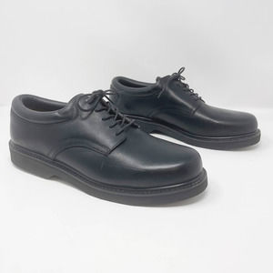 Wear Guard Black Leather Lace Up Work Dress Shoes